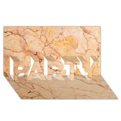 Stone Floor Marble Party 3d Greeting Card (8x4)  by essentialimage