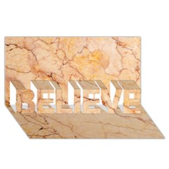 Stone Floor Marble Believe 3d Greeting Card (8x4)  by essentialimage