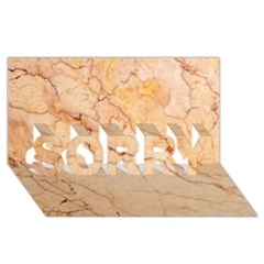 Stone Floor Marble Sorry 3d Greeting Card (8x4)  by essentialimage