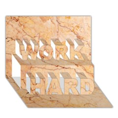 Stone Floor Marble Work Hard 3d Greeting Card (7x5)  by essentialimage