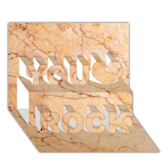 Stone Floor Marble You Rock 3d Greeting Card (7x5)  by essentialimage