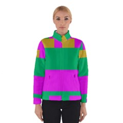 Rectangles And Other Shapes Winter Jacket by LalyLauraFLM