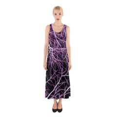 Purple Twigs Full Print Maxi Dress by timelessartoncanvas