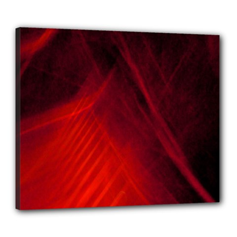 Red Abstract Canvas 24  X 20  by timelessartoncanvas