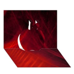 Red Abstract Apple 3d Greeting Card (7x5)  by timelessartoncanvas