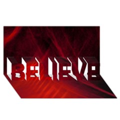 Red Abstract Believe 3d Greeting Card (8x4)  by timelessartoncanvas