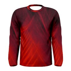 Red Abstract Men s Long Sleeve Tee by timelessartoncanvas