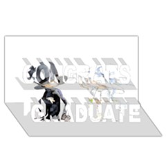 Little Bride And Groom Congrats Graduate 3d Greeting Card (8x4)