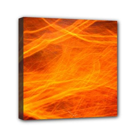 Orange Wonder Mini Canvas 6  X 6  by timelessartoncanvas