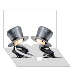 Little Groom And Groom Heart Bottom 3d Greeting Card (7x5)