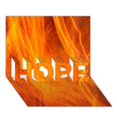 Orange Wonder 2 Hope 3d Greeting Card (7x5)  by timelessartoncanvas