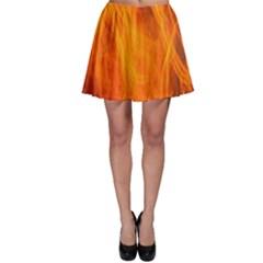 Orange Wonder 2 Skater Skirt by timelessartoncanvas