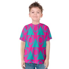 Triangles And Honeycombs Pattern Kid s Cotton Tee