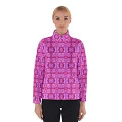 Pretty Pink Flower Pattern Winter Jacket