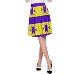 Tribal Shapes And Stripes A Line Skirt by LalyLauraFLM