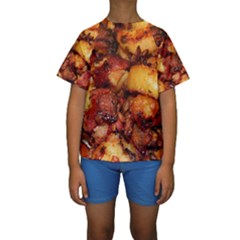Tetters And Meat By Sandi Kid s Short Sleeve Swimwear