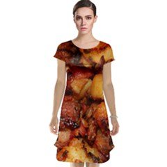 Tetters And Meat By Sandi Cap Sleeve Nightdress by RakeClag
