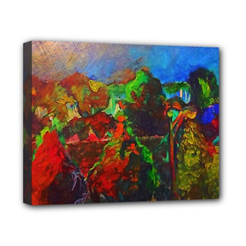 Chicago Park Painting Canvas 10  X 8  by bloomingvinedesign