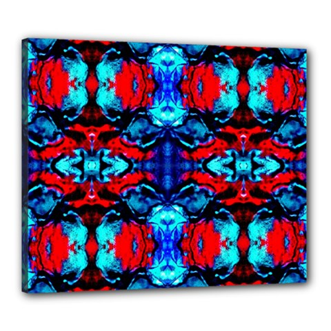 Red Black Blue Art Pattern Abstract Canvas 24  X 20