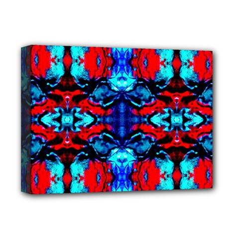 Red Black Blue Art Pattern Abstract Deluxe Canvas 16  X 12
