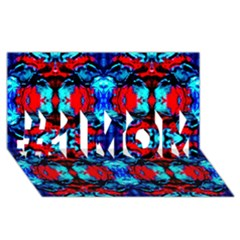 Red Black Blue Art Pattern Abstract #1 Mom 3d Greeting Cards (8x4)  by Costasonlineshop