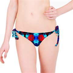 Red Black Blue Art Pattern Abstract Bikini Bottom