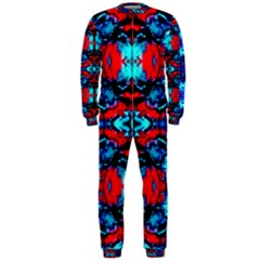 Red Black Blue Art Pattern Abstract Onepiece Jumpsuit (men)