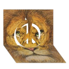 Regal Lion Drawing Peace Sign 3d Greeting Card (7x5)