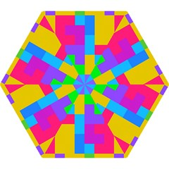 Colorful Tetris Shapes Umbrella by LalyLauraFLM