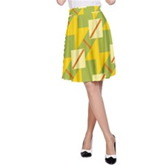 Squares and stripes A-line Skirt by LalyLauraFLM