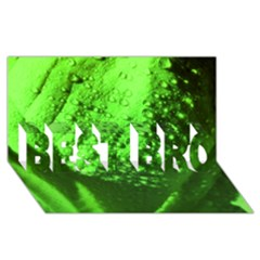 Green And Powerful Best Bro 3d Greeting Card (8x4)
