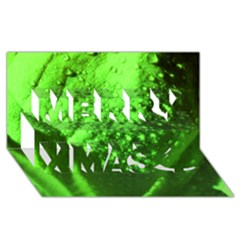 Green And Powerful Merry Xmas 3d Greeting Card (8x4)