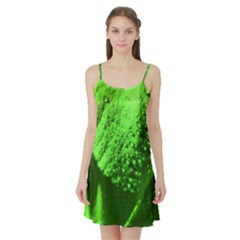 Green And Powerful Satin Night Slip by timelessartoncanvas