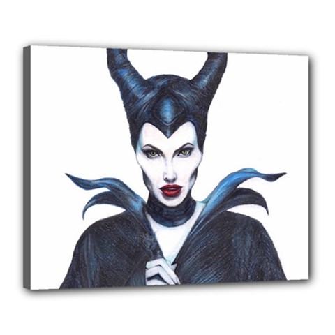 Maleficent Drawing Canvas 20  x 16  by KentChua