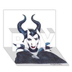Maleficent Drawing Boy 3d Greeting Card (7x5) by KentChua