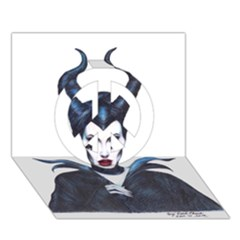 Maleficent Drawing Peace Sign 3d Greeting Card (7x5)  by KentChua