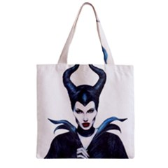 Maleficent Drawing Zipper Grocery Tote Bags by KentChua