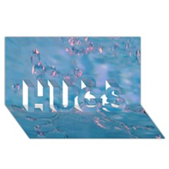 Abstract Waters with hints of Pink HUGS 3D Greeting Card (8x4)  by timelessartoncanvas