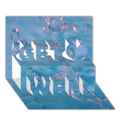 Abstract Waters With Hints Of Pink Get Well 3d Greeting Card (7x5)
