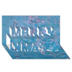 Abstract Waters With Hints Of Pink Merry Xmas 3d Greeting Card (8x4)  by timelessartoncanvas