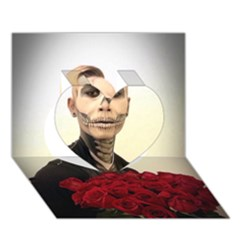 Halloween Skull Tux And Roses  Heart 3d Greeting Card (7x5)  by KentChua