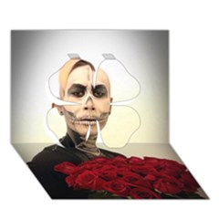 Halloween Skull Tux And Roses  Clover 3d Greeting Card (7x5)