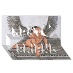 Angel And The Piano Drawing Best Friends 3d Greeting Card (8x4)