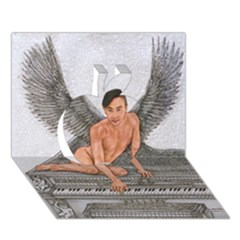 Angel And The Piano Drawing Apple 3d Greeting Card (7x5)  by KentChua