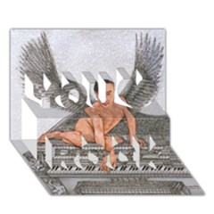 Angel And The Piano Drawing You Rock 3d Greeting Card (7x5)  by KentChua