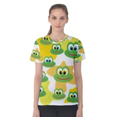 Cute Frog Family Whimsical Women s Cotton Tee by CircusValleyMall