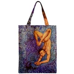 Zodiac Signs Scorpio Drawing Zipper Classic Tote Bags by KentChua