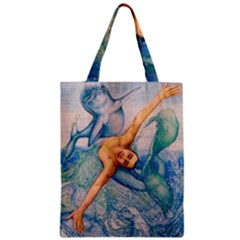 Zodiac Signs Pisces Drawing Zipper Classic Tote Bags by KentChua