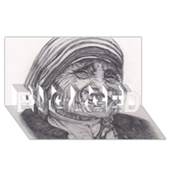 Mother Theresa  Pencil Drawing Engaged 3d Greeting Card (8x4)  by KentChua
