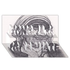 Mother Theresa  Pencil Drawing Congrats Graduate 3d Greeting Card (8x4)  by KentChua